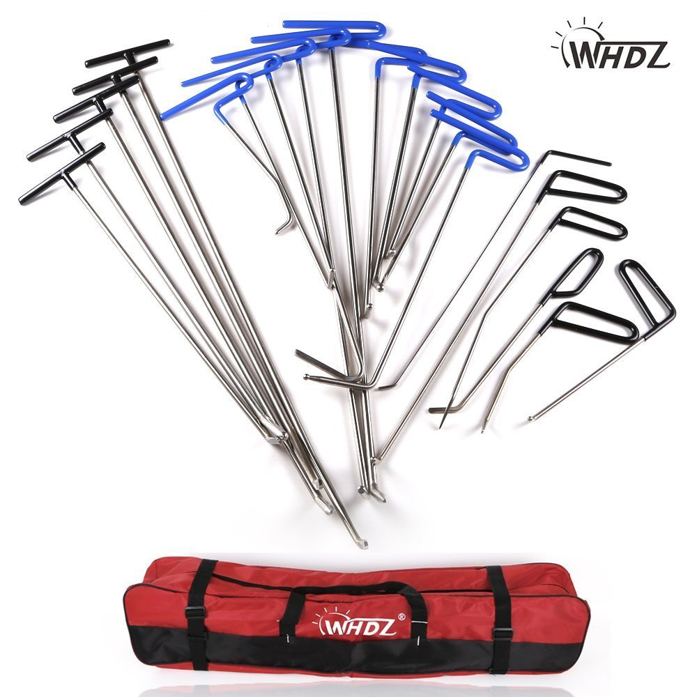 A6+C5+C6 A WHDZ Dent Paintless Tap Down 9 Heads Removal Hail Push Rods Tools