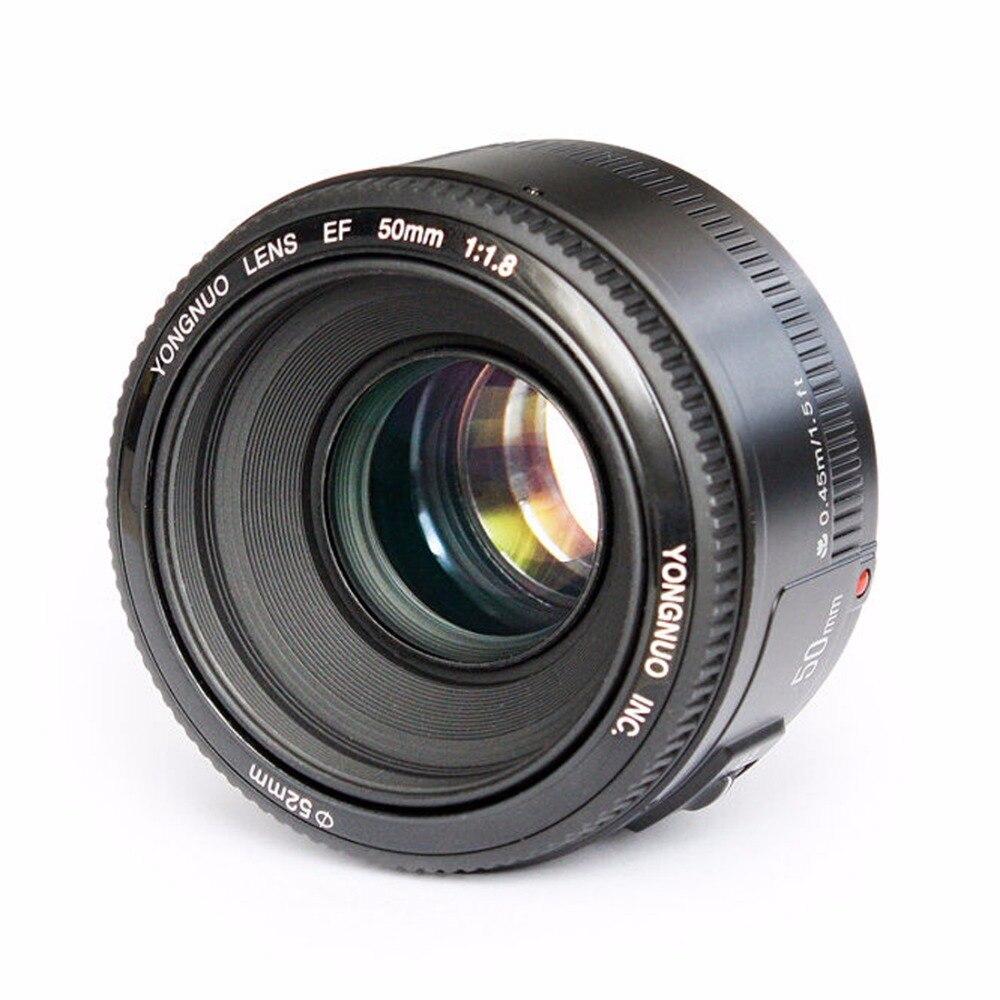 YONGNUO YN EF 50mm f/1,8 AF lente de apertura de enfoque automático YN50mm f1.8 lente para cámaras Canon EOS DSLR
