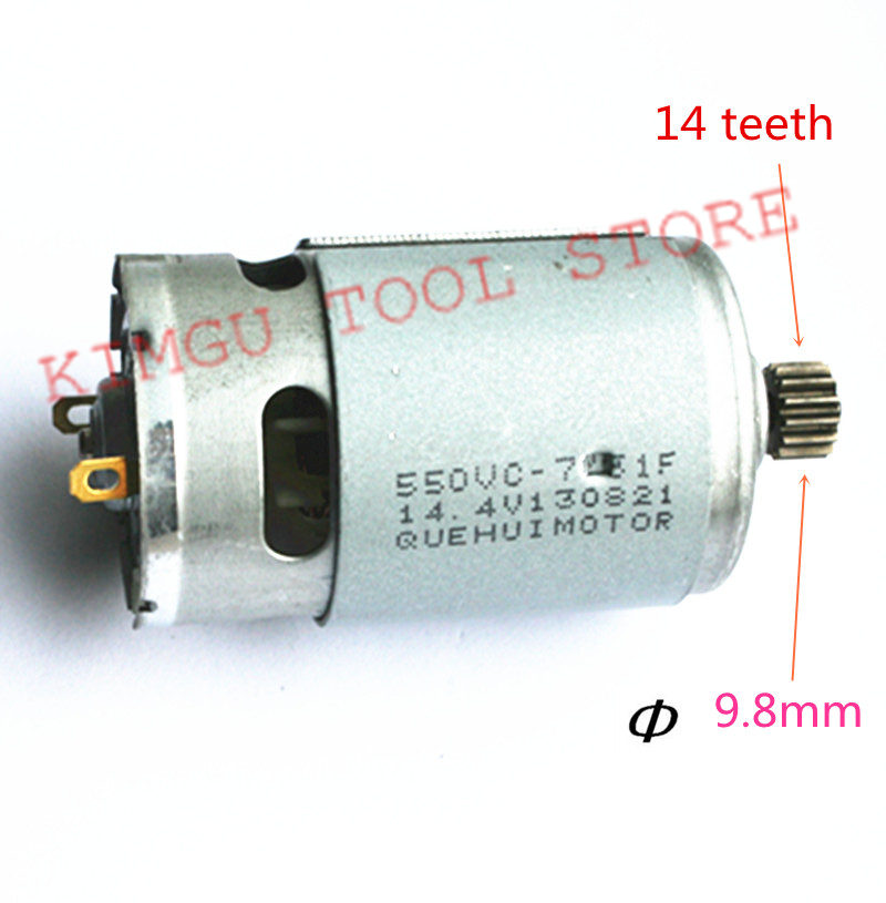14 Teeth Motor 14.4V Replace For MAKITA 629819-4 629875-4 6381D BDF343 6280D 6280DWE 6281DWE 6281D MT070 6280DWPE 6280PWPE3