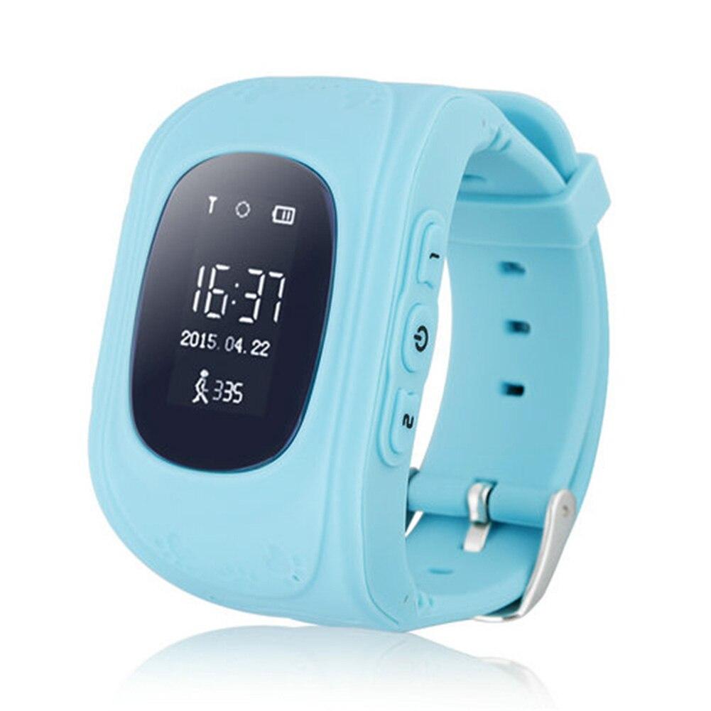 imágenes para Seguros Para Niños GPS Reloj inteligente Reloj de Llamada SOS Localizador anti-perdida Localizador Rastreador de Monitor de Bebé Del Cabrito Del Niño de Regalo Q50 reloj