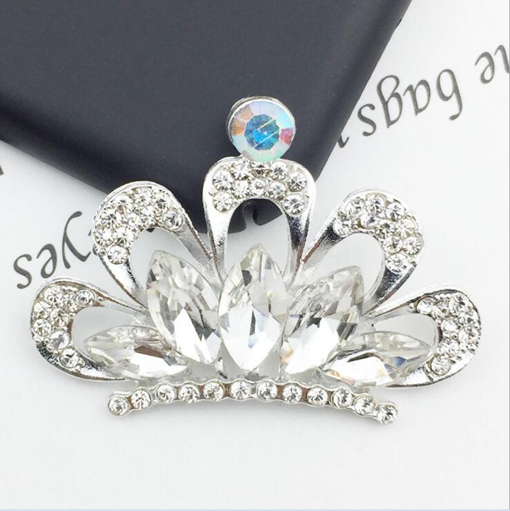 4Pcs Flower Crystal Rhinestone Buttons Wedding Supply Gift Wrapping Hairbow Clothes Decoration