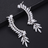 missvikki boucle d'oreille femme 2019 charms silver 925 Earrings Ear hook Shiny Cubic Zirconia Top Quality Ladies Accessories