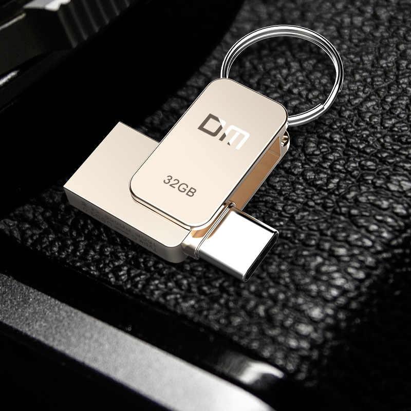 DM PD059 USB флеш-накопитель 32 Гб OTG металлический USB 3,0 флеш-накопитель ключ 64 Гб Type C Высокоскоростной Флешка мини флеш-накопитель карта памяти