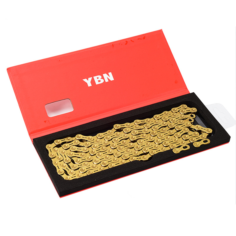 Ultralight YBN Bicycle MTB Golden Semi Hollow SL Chain Mountain Bike Road Bicycle Parts Durable Gold