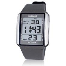 XONIX Men Sports Watches Waterproof 100m Outdoor Fun Multifunction Digital Watch Swimming Running LED Wristwatch Montre Homme