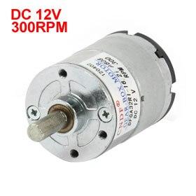 Uxcell(R) Hot Sale 1Pcs DFGA32RI-16.2i 6mm Shaft Dia 300RPM DC 12V Speed Reduce Geared Motor цена