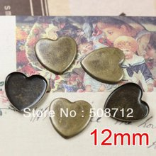 цена на Free shipping!!! Lead Free 1000pcs/lot Inside size 12mm bronze color square  Cameo Base Sett