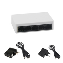 New 10/100Mbps 5 Ports Mini Fast Ethernet LAN Network Switch Switcher Hub Desktop PC US/EU Adapter EM88
