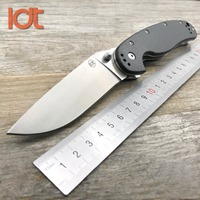 LDT RAT Model 1 Camping Folding Knife 8Cr14Mov Blade Carbon Fiber Handle Knives Tactical Outdoor Survival