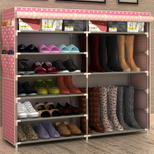 University Dormitory artifact double six simple shoe rack thickening large zippered dust-proof housing