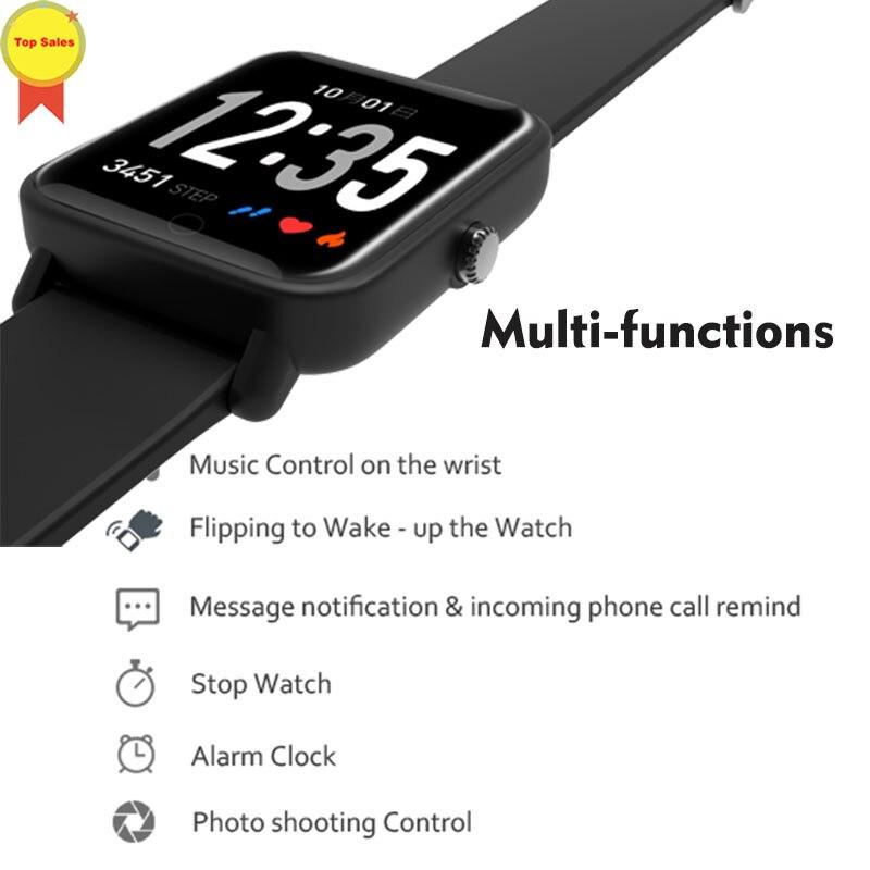 Bracelet intelligent IP67 étanche montre réveil activité Tracker Bracelet fréquence cardiaque BPM moniteur bande pour IOS iphone Android