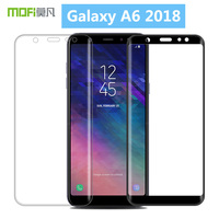 For Samsung Galaxy A6 2018 MOFi 3D Hot Bending Curved Full Cover Tempered Glass Screen Protector Film For Samsung Galaxy A6 2018