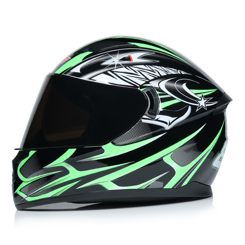 NEW full face motorcycle helmet dual shield with removable washable inner lining racing moto helmet