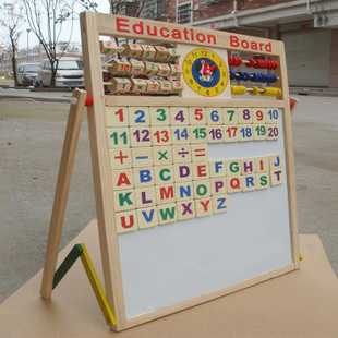 Jouet en bois multifonctionnel dessin tableau d'écriture double face tablette enfants jouets éducatifs