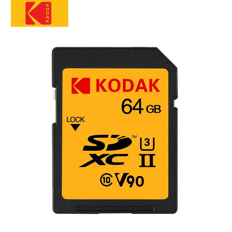 Kodak carte SD 64 gb 128 gb carte mémoire UHS-II haute vitesse 280 M/s carte sd SDXC caméra 4 K Micro unique U3 HD prise de vue