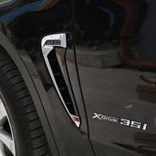 For BMW X5 F15 2014 2015 2016 2017 Car styling ABS Chrome Side Wing Fender Air