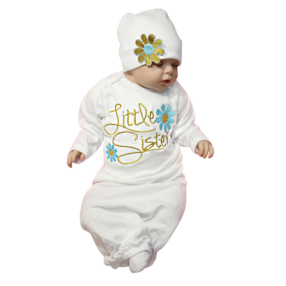 Newborn Baby Robes Sleep Gowns Long Sleeve Toddler Sleeper Gowns ...