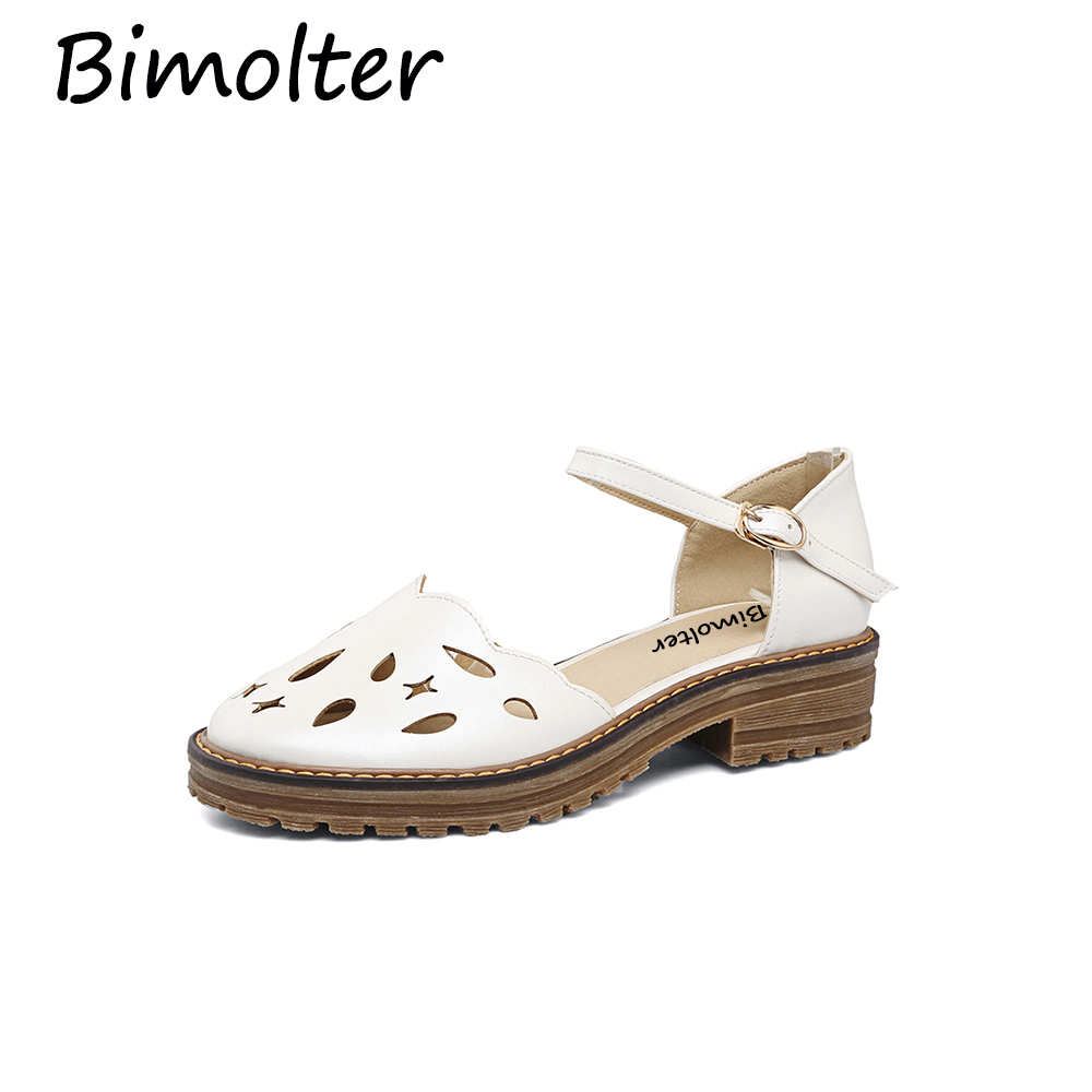 Bimolter Women Fashion Classic Shoes Casual Confortable Round Toe Hollow Out Girl 39 s Shoes Female Summer Mary Janes Flats PFEA001 in Women 39 s Flats from Shoes