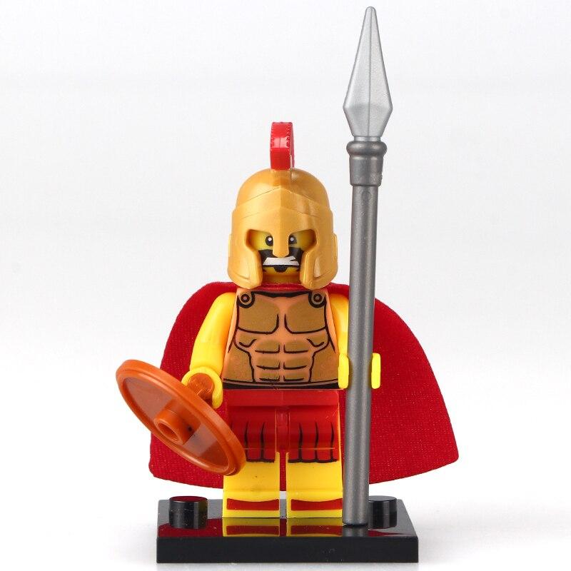 50pcs lot XH438 Hero of Sparta Highland Warriors Medieval Knights Rome BuildingBlocks Bricks Kids DIY Toys