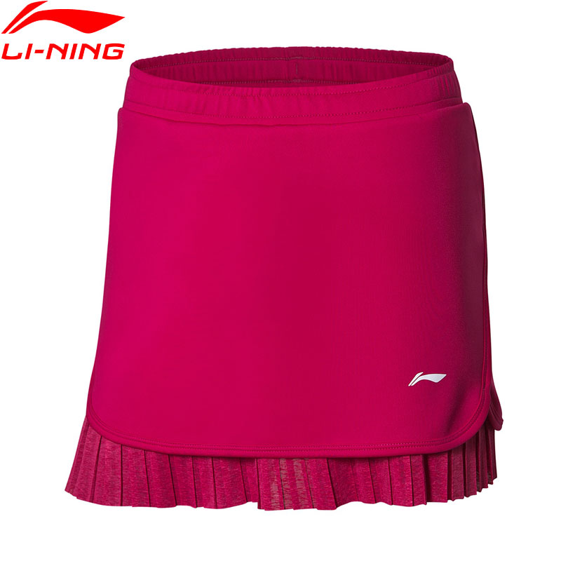 Li Ning Women Badminton Skirts 87 Polyester 13 Spandex AT DRY BASE Anti bacteria Anti static