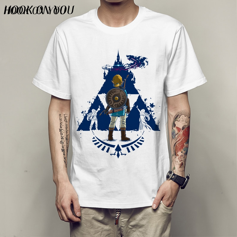 2017 Latest Link TriForce Logo Zelda T Shirt Brand Modal Breathe The Legend Of Zelda Design T-Shirt Chic Tops Tees Free Shipping