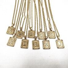 Rongho, новинка, дизайнерское металлическое ожерелье с подвеской в виде букв для женщин, Золотая цепочка, ожерелье, винтажное ожерелье в богемном стиле, ожерелье в стиле панк, ювелирное изделие