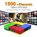Núcleo octa Android Árabe IPTV BOX T95Kpro Frete 1500 Europa Árabe Canais de IPTV S912 2 GB/16 GB TV Box WIFI H265 KODI Media Player