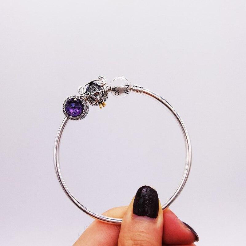 Fits Jewelry Charm DIY Ladies Party Gift Ocean Heart Beads Opal Crown Pumpkin Car Sterling Silver 925 Bracelet