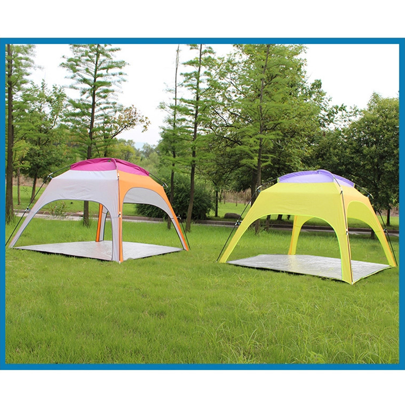 Tri-polar Tent 4People Ultralight Beach Camping Tent Sun Shelter Large  Outdoor Folding Awning Wind-resistant Tent Anti-UV