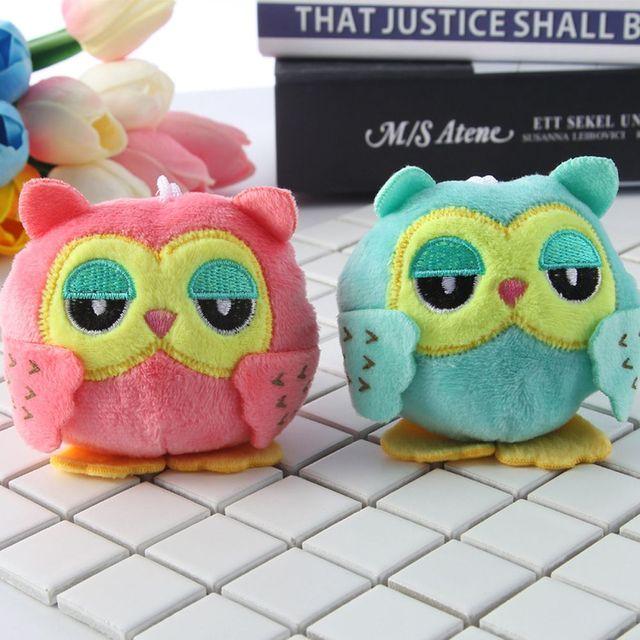 1 Piece Kids Plush Animals Owl 9cm*7cm Keychain Toys for Children Kawaii Baby Dolls Game Soft Stuffed Boys Girls Christmas Gifts