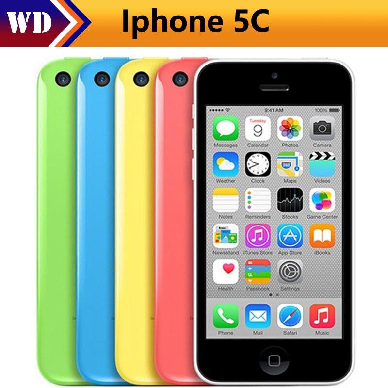 """Цена за Оригинальный разблокирована apple iphone 5c мобильный телефон dual core 4.0 """"8.0mp камера 3 г wi fi gps 8 ГБ/16 ГБ/32 ГБ 5c сотовый телефон"""