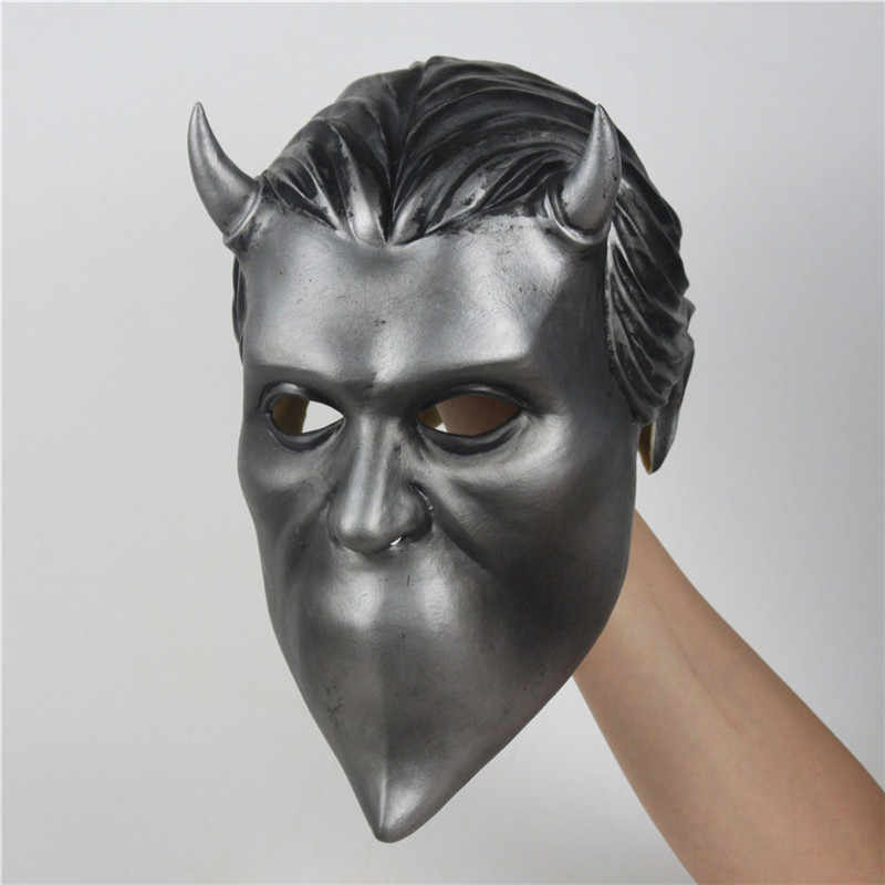 Ghost B.C. Cosplay Rock Roll Band Cosplay Mask Nameless Ghoul Costume Latex Mask Props Helmet Adult Ghost BC