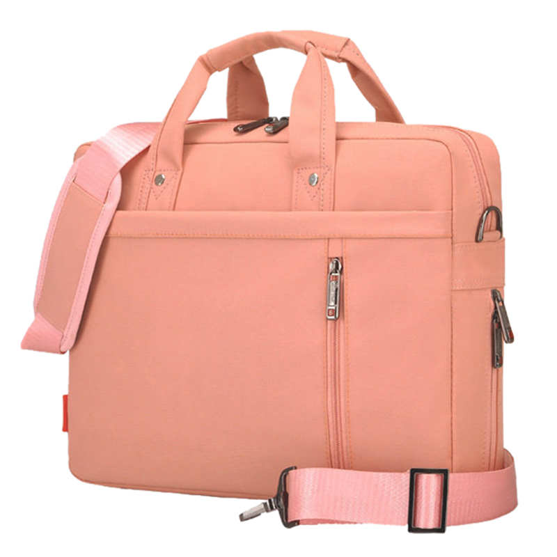 Laptop bag 13 inch Shockproof airbag waterproof computer bag men and women luxury thick Notebook bag Pink