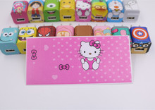 500pcs Fashion USB Mobile Data Cable Winder Cartoon Stickers Charger Cord Protector For Iphone4 5 6 7