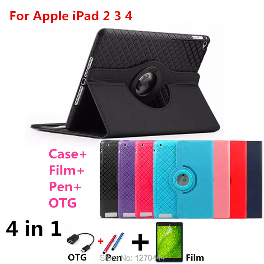 Case For IPAD2 IPAD3 IPAD4 Tablet New Luxury Magnetic Color Painted PU Leather For ipad 3