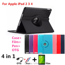Caso Para IPAD2 IPAD3 IPAD4 Tablet, nuevo Lujo Pintado de Color de Cuero de LA PU Magnética Para el ipad 3 Cubierta elegante Del Soporte para el ipad 2 3 4 9.7