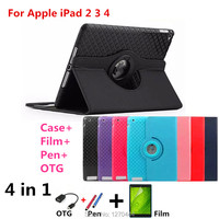 New Luxury Magnetic Color Painted PU Leather For Ipad 2 Stand Case For IPAD2 IPAD3 IPAD4