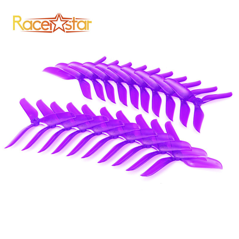 Free Shipping 10 Pairs 20x Racerstar V2 5048 5x4.8x3 3 Blade Racing Propeller Blade 5.0mm Mounting Hole for FPV Racer RC Drones