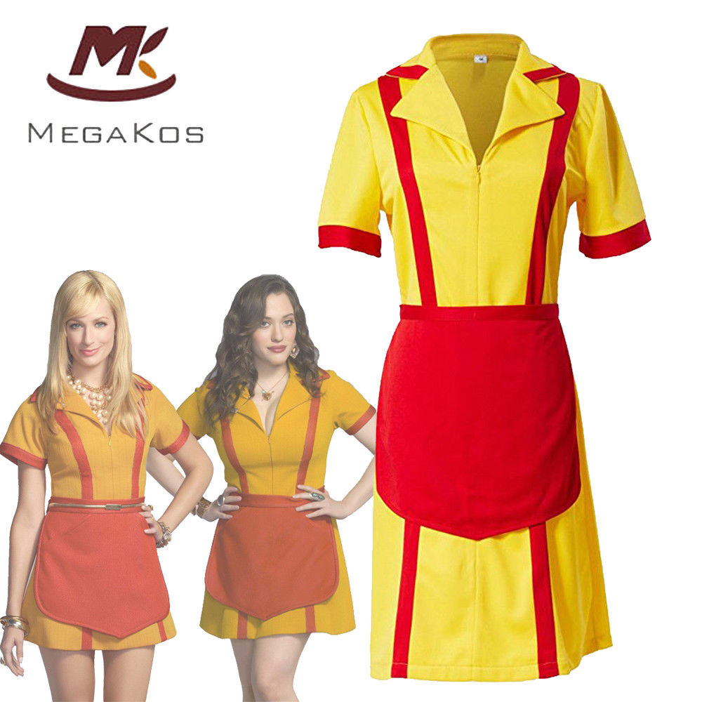 2 Broke Girls Costume Max Caroline Maid Cosplay Costume Carnival Party Dress Clothing