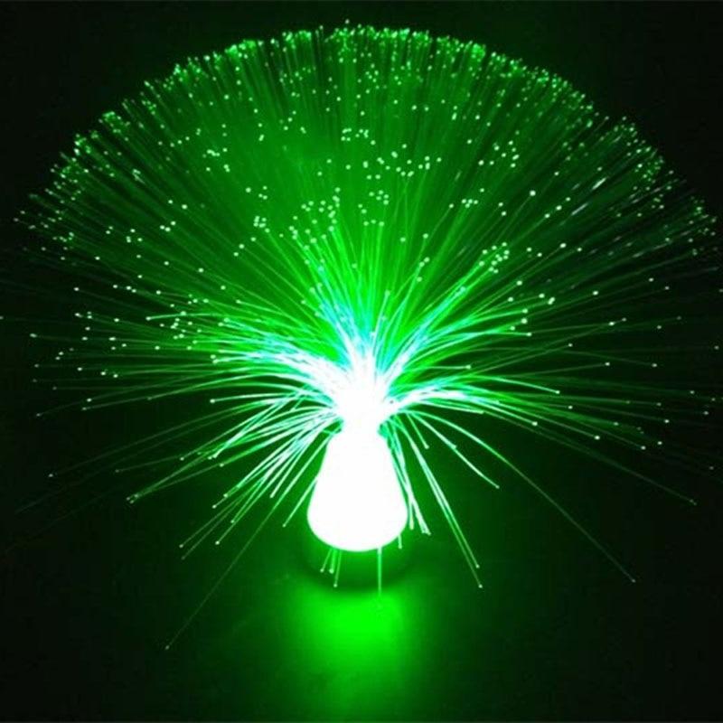 Beautiful LED Light Lamp Multicolour Fibre Autism Calming Sensory Optic Ice Relax Changing Fashion Style