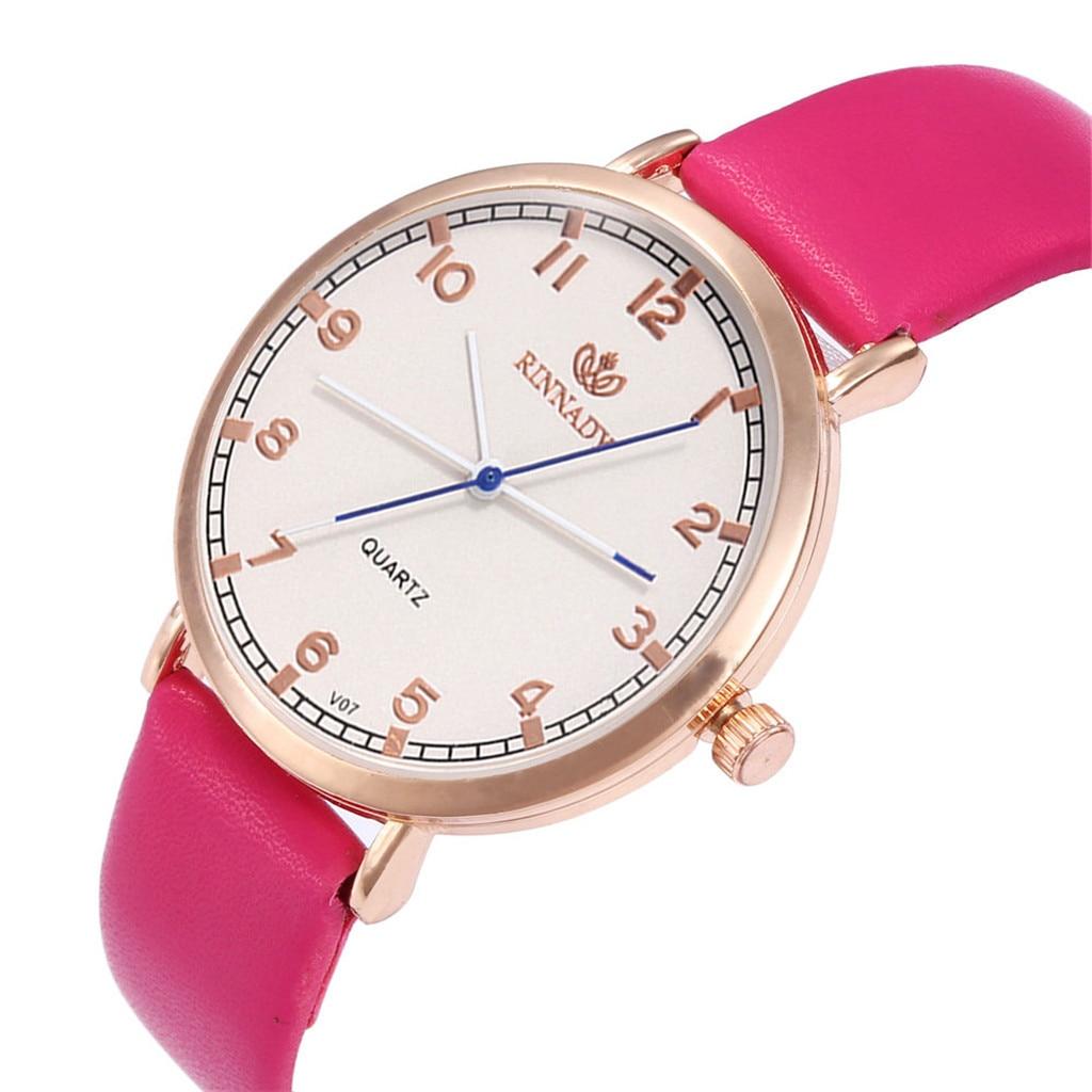 Ladies Watch Glass-Mirror Strap Silicone Brand Luxury New Fashion Quartz Casual