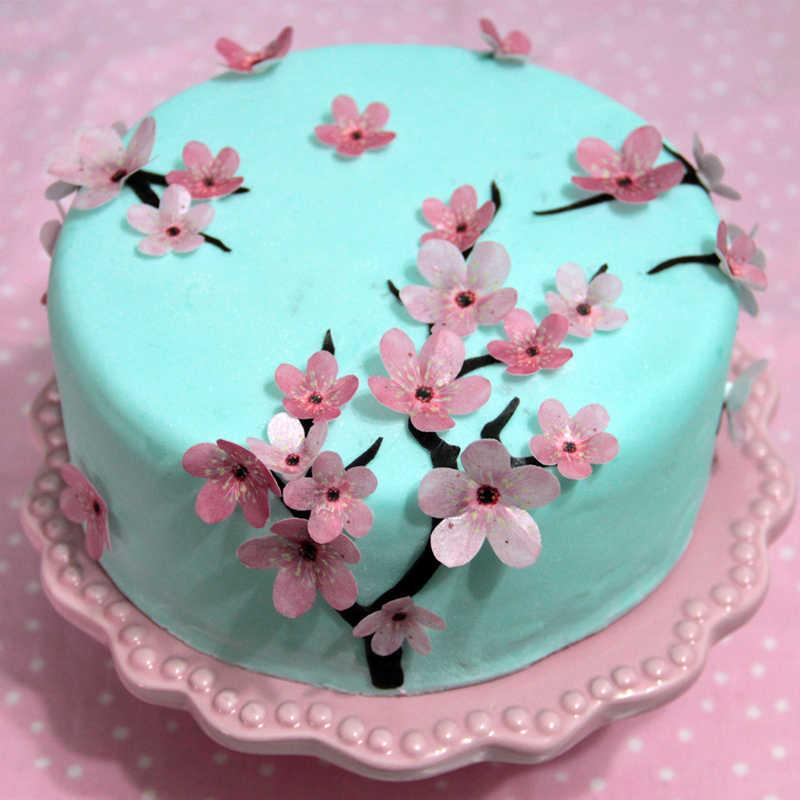 Swell 1 Sheet Set Plum Blossom Edible Wafer Paper For Kids Birthday Cake Funny Birthday Cards Online Elaedamsfinfo