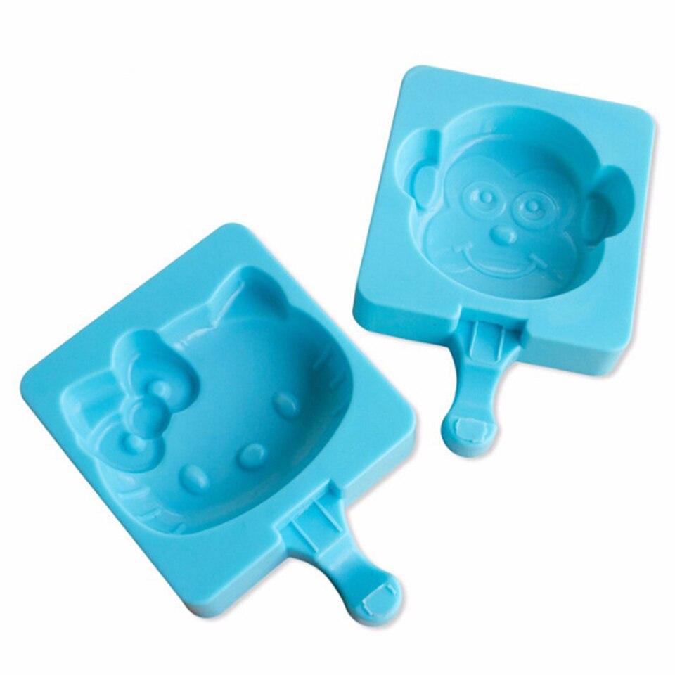 ộ_ộ ༽Cartoon Silicone Ice Cream Mold Ice Popsicle Molds Snowman ...