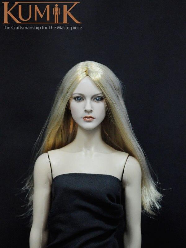 a9955ccc2ce91 1 6 Esculpir Cabeça KUMIK KM13-12 Loira boneca Modelo de Escultura Da Cabeça