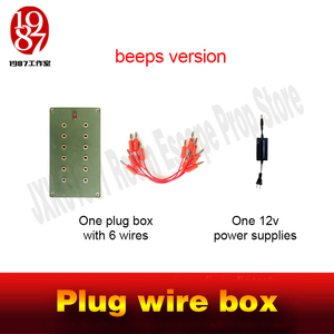 Image 4 - Escape room takagism game props plug wire box all the wires are inserted into the right sockets to unlock charmber room JXKJ1987