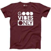 aef5a68d1 Good Vibes Only Tshirt 100% Cotton New Mens Tee Positive Free Spirit Fun T-