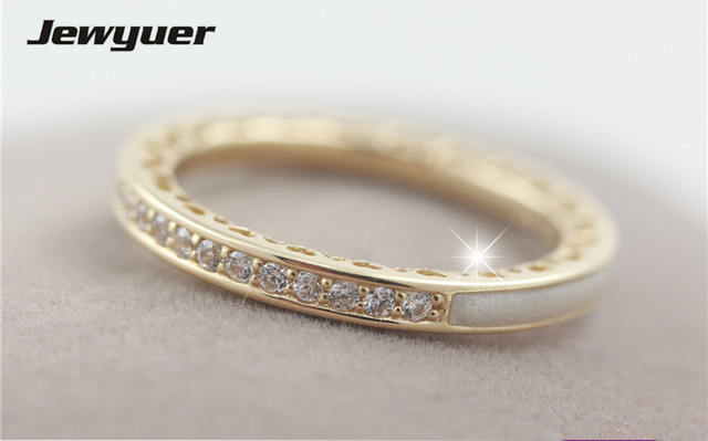 836bc0b7f 14K Solid Gold Radiant Hearts Rings For Women Engagement wedding Ring  anillos heart ring gift to lover fine jewelry RIP0122