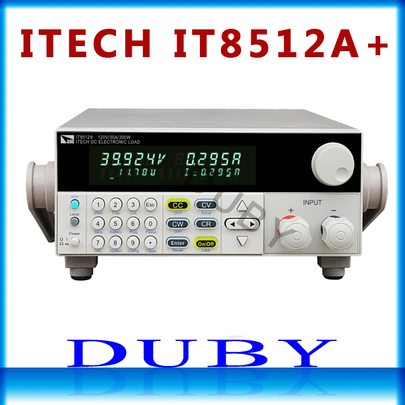 ITECH IT8512A+ DC electronic load one way Programmable 150V/30A/300W Get one free load line itech celb 54xl для 37 70 черный