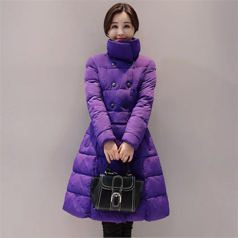 Winter Jacket Women 2017 New Cotton Jackets Warm Overcoat Fashion Thicken Female Parkas Basic Coat  Korean students Coat hijklnl 2017 new winter female cotton jacket long thicken coat casual korean style women parkas overcoat hyt002