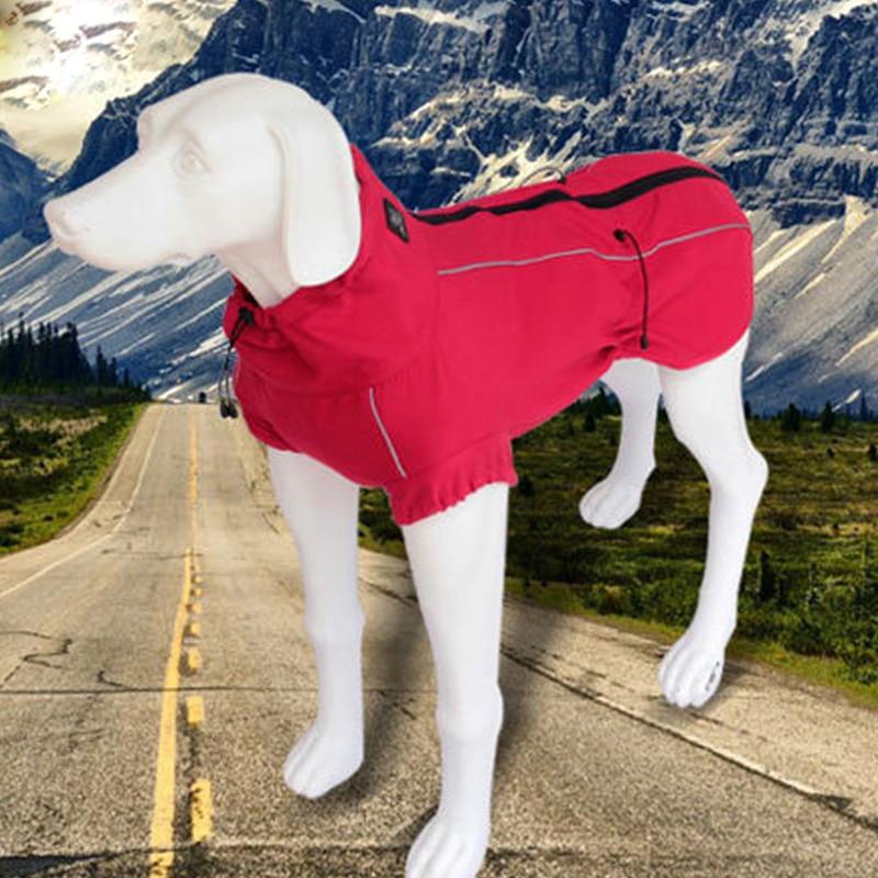 Waterproof Outdoor Big Large Dog Jacket Coat Winter Warm Fleece